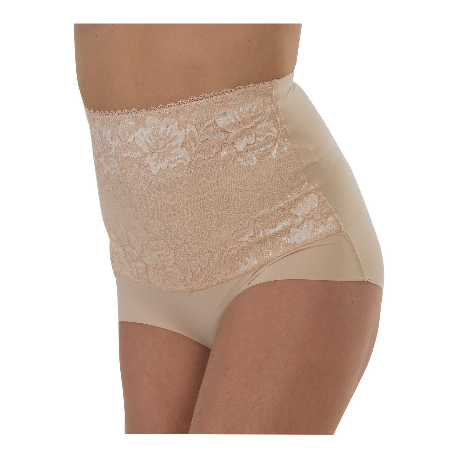 cccffcb8ada 2 Pairs Ladies Light Control Full Briefs with Lace Front Panel   No VPL